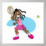 Estrella de tenis poster