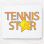Estrella de tenis tapete de raton