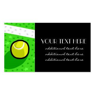 Estrella de tenis tarjetas de visita