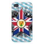 Estrella de Turks and Caicos Islands iPhone 4 Cárcasa