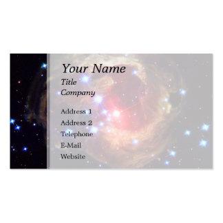 Estrella de V838 Monocerotis (telescopio de Plantillas De Tarjeta De Negocio
