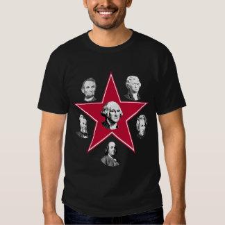 Estrella de Washington y 5 patriotas americanos Remeras