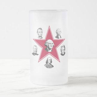 Estrella de Washington y 5 patriotas americanos Tazas