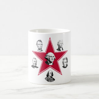 Estrella de Washington y 5 patriotas de los E.E.U. Tazas De Café