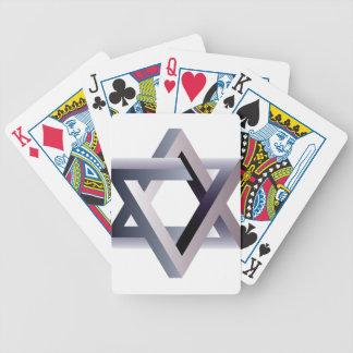 Estrella de Wellcoda de la muestra del judaísmo Baraja De Cartas Bicycle
