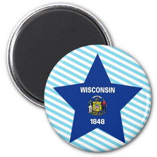 Estrella de Wisconsin Imán Redondo 5 Cm