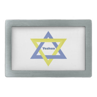 Estrella de Yeshua Hebillas Cinturon Rectangulares
