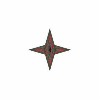 Estrella de Yule Adorno Fotoescultura