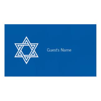 Estrella del adorno de Jánuca de la tarjeta azul Tarjetas De Visita