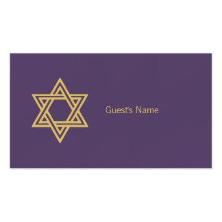 Estrella del adorno de Jánuca de la tarjeta Tarjetas De Visita