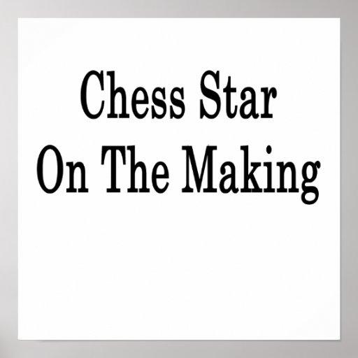 Estrella del ajedrez en la fabricación poster