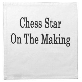 Estrella del ajedrez en la fabricación servilleta de papel