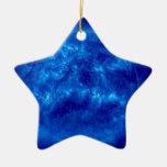 Estrella del amarillo de la estrella azul adorno