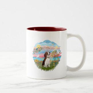 Estrella del ángel - beagle taza
