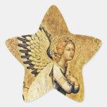 Estrella del ÁNGEL del ANUNCIO Calcomanía Forma De Estrella