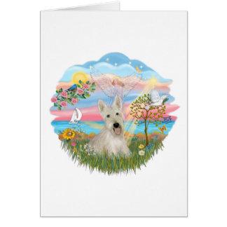 Estrella del ángel - escocés de trigo Terrier Tarjeta De Felicitación