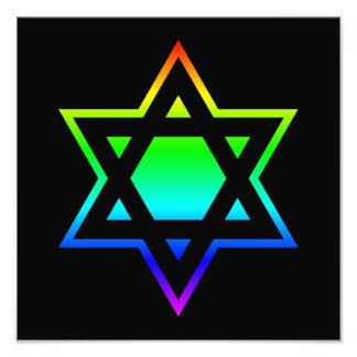 Estrella del arco iris de David Cojinete