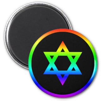 Estrella del arco iris de David Imán Para Frigorífico