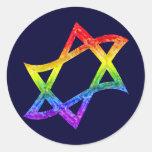 Estrella del arco iris de los pegatinas de David