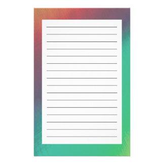 Estrella del arco iris papelería personalizada