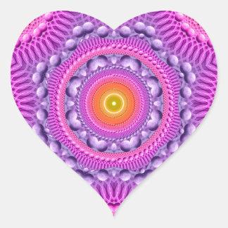 Estrella del arco iris pegatina en forma de corazón