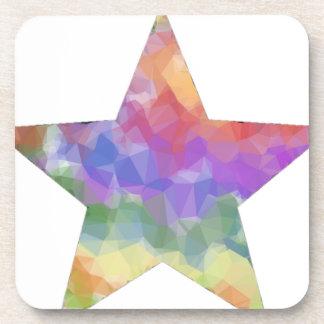 Estrella del arco iris posavasos de bebidas
