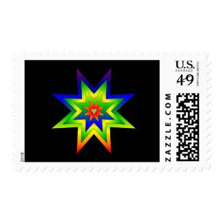 Estrella del arco iris sello