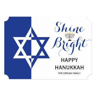 """Estrella del azul brillante del día de fiesta de invitación 5"""" x 7"""""""