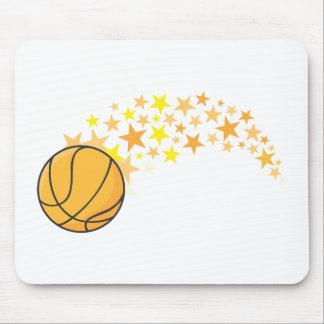 Estrella del baloncesto brillante alfombrillas de raton