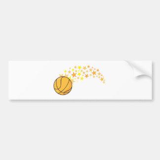 Estrella del baloncesto brillante pegatina para auto