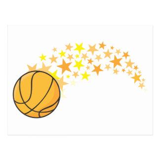 Estrella del baloncesto brillante tarjeta postal
