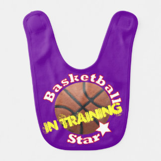 Estrella del baloncesto en el entrenamiento babero para bebé
