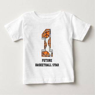 Estrella del baloncesto futura del número 1 del camisetas