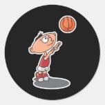 estrella del baloncesto futura etiqueta redonda