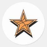 Estrella del baloncesto pegatinas redondas