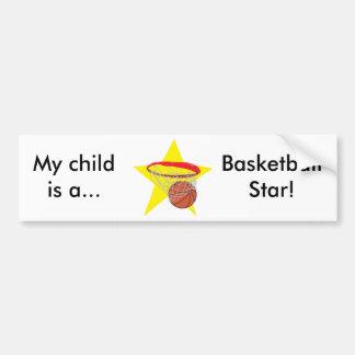 ¡Estrella del baloncesto!  Personalizable: Pegatina De Parachoque