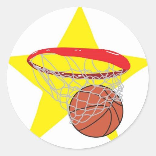 ¡Estrella del baloncesto!  Personalizable: Etiqueta