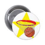 ¡Estrella del baloncesto!  Personalizable: Pins