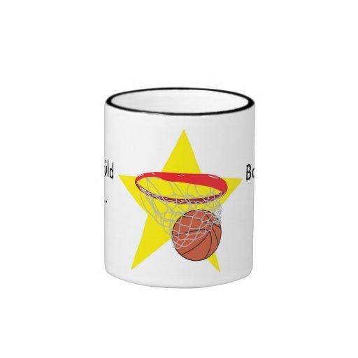 ¡Estrella del baloncesto!  Personalizable: Taza De Dos Colores