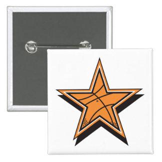 estrella del baloncesto pin cuadrada 5 cm