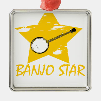 Estrella del banjo ornamento para arbol de navidad