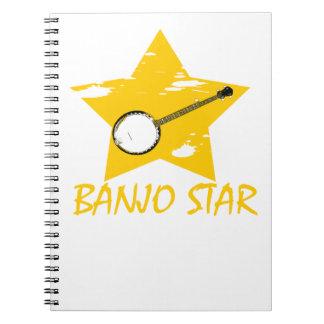 Estrella del banjo libro de apuntes