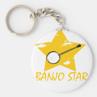 Estrella del banjo llavero