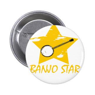 Estrella del banjo pins