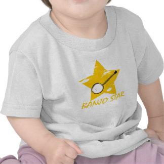 Estrella del banjo camiseta