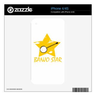 Estrella del banjo calcomanía para iPhone 4