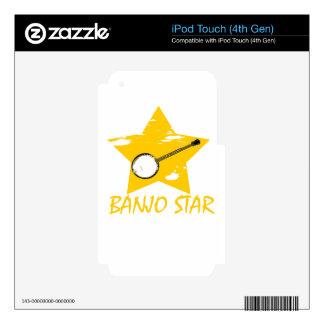 Estrella del banjo iPod touch 4G calcomanía