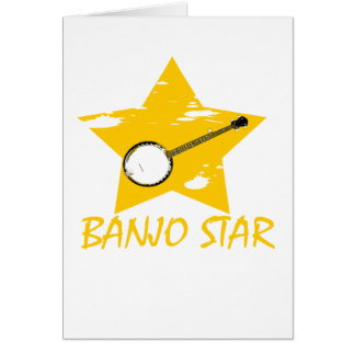 Estrella del banjo tarjetas