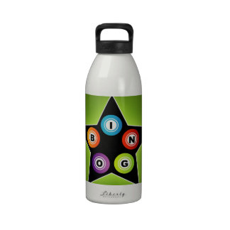 Estrella del bingo botellas de beber
