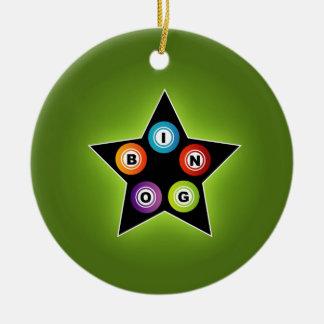 Estrella del bingo adornos de navidad